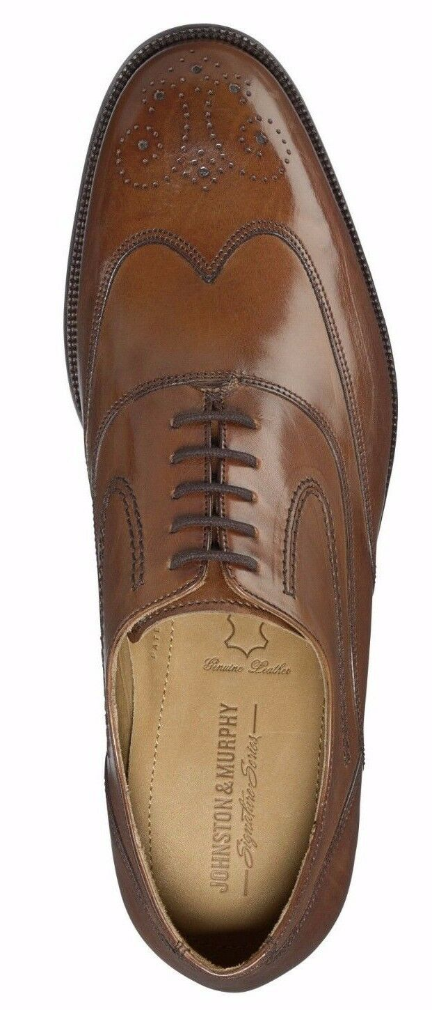 Men's Men's Men's Johnston & Murphy Stratton Wingtip Oxfords, 15-7070 Sizes 8-13 Tan Italian 04f235