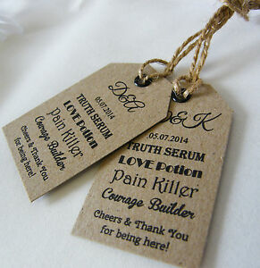 Personalised-Wedding-Drink-Minature-Bottle-Favour-Tags-Vintage-Luggage-Label