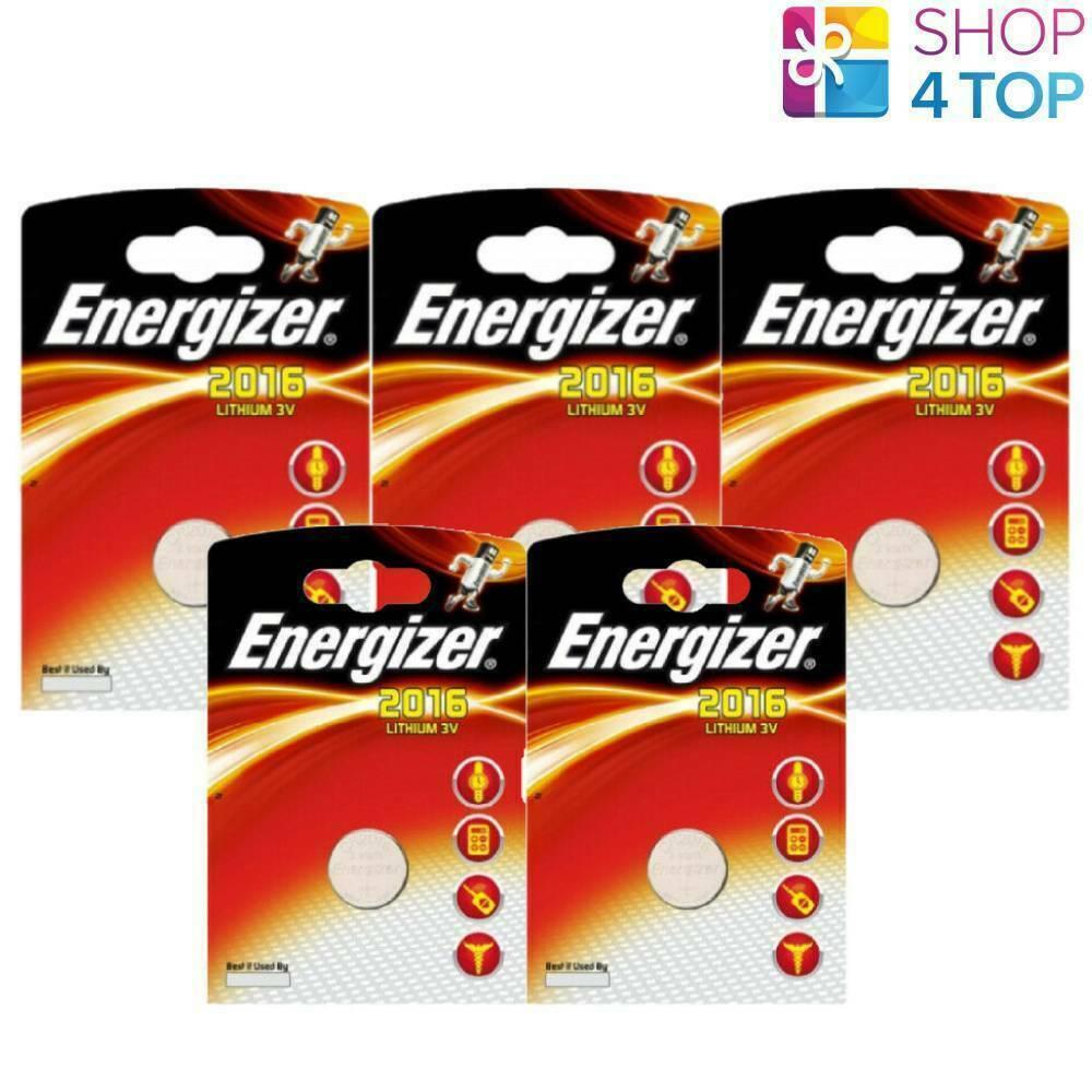 5 Energizer CR2016 Lithium Battery 3V Coin Cell DL2016 ECR2016 Exp 2025 New
