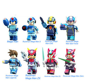 Rockman Mega Man ZX Anime Series building toy block Figures Gift Toys Model