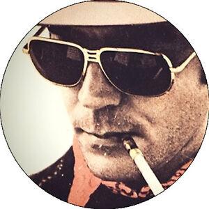 Chapa/badge Hunter S. Thompson . Pin Button Kerouac Hemingway Bukowski Fante DéLicieux Dans Le GoûT