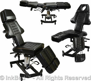 inkbed hydraulic client tattoo massage bed chair table ink