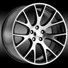 24 Inch Black Machined Replica 218 Hellcat Wheels Rims 5x115 5x45 Dg05 Dodge