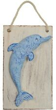 "Dolphin Plaster 6""H Wall Plaque Nautical Sea Life Hanging Art Sign Creature New"