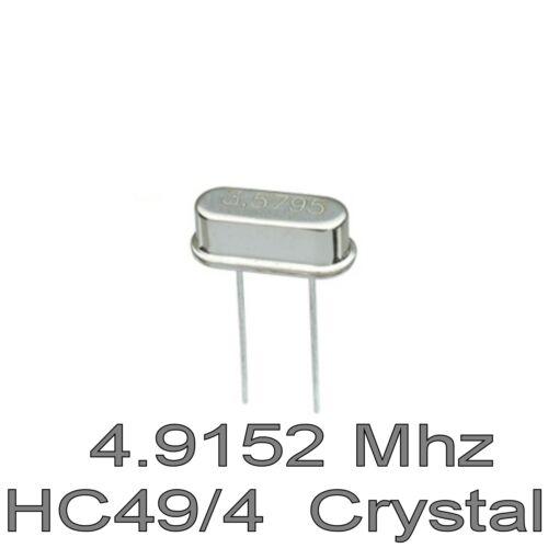 4.9152 Mhz hc49//4 Crystal Xtal oscilador 4.9152 MHz bajo perfil 4 Mm 2