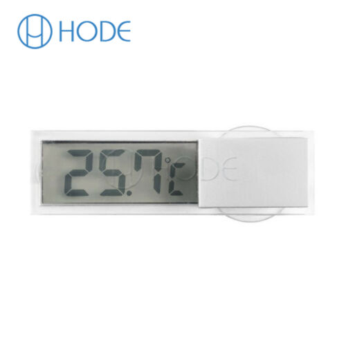 Transparent LCD Thermometer Hydrometer Indoor Outdoor Weather Station UK