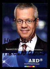 Rainald Becker ARD Autogrammkarte Original Signiert # BC 40688