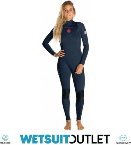 Rip Curl Womens Dawn Patrol 3//2mm GBS Chest Zip Wetsuit NAVY Lightweight Seam