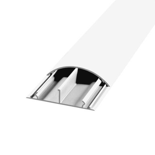 Kabelkanal 12 x 12mm Selbstklebend Weiß TV Fussboden PVC Kabelschacht 0,5m 1m 2m