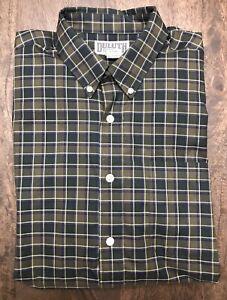 Duluth-Trading-Co-Mens-Sz-Large-Tall-LT-Plaid-Button-Down-Shirt-Brown-Top-EUC