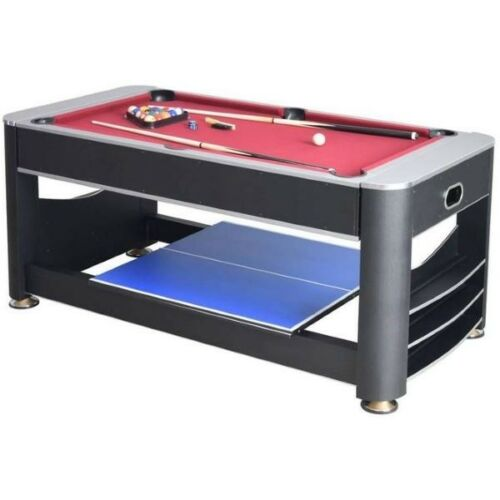 Air Hockey Triple Threat NG5001 6-ft 3-in-1 Multi Game Table Tennis Pool Table