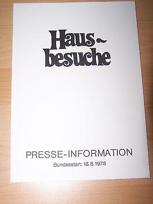 Unparteiisch Hausbesuche Walter Matthau Modische Muster Presseheft ´78