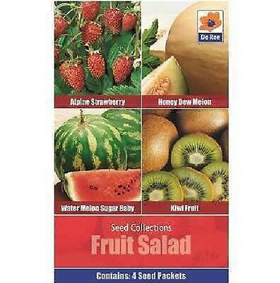 Dee Ree - Fruit Salad Seed Collection - Strawberry - Melon - Kiwi Fruit