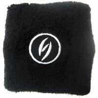2 x Black Wrist Band Wristband Sweatband Sports