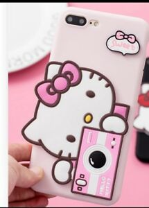 Funda-Carcasa-TPU-Iphone-6-Plus-6s-Plus-4-7-034-Hello-Kitty-3D-Rosa-Case-Pink