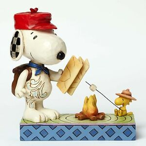 Jim Shore Peanuts Snoopy and Woodstock Campfire 4049414