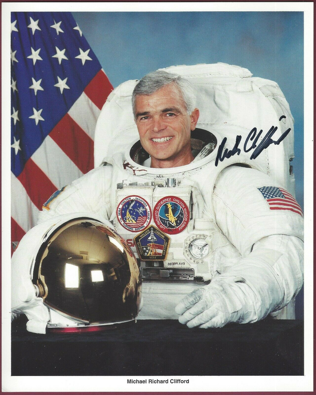 "s l1600 - Michael R. Clifford, NASA Astronaut, Signed 8"" x 10"" Photo, COA, UACC RD 036"