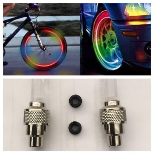 2Pcs Wheel  Tyre Light Motor Car Tyre Valve Flash Cap Flash For Bicycle