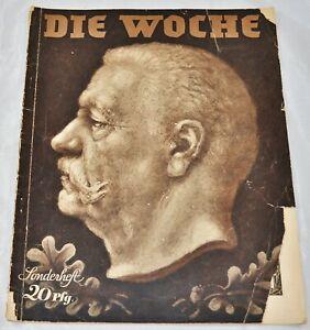 Vintage-Die-Woche-Germany-Magazine-2-August-1934-Hindenburg-VG