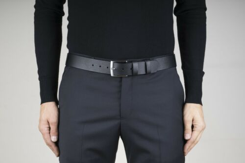 """Full grain leather belt Mens thick belts Black 1.5/"""" Wide Casual For jeans"""