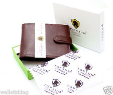 Topsum London Mens Luxury Brown VT Leather Wallet Purse With Coin Pocket 4014