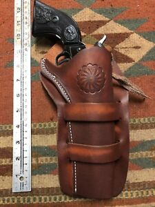 Details about Fits Colt Cimarron Pistolero EAA Bounty Hunter 22Cal 5 5  Western Leather Holster