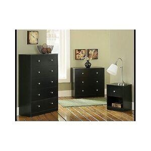 details about contemporary bedroom furniture set 3 piece black dresser