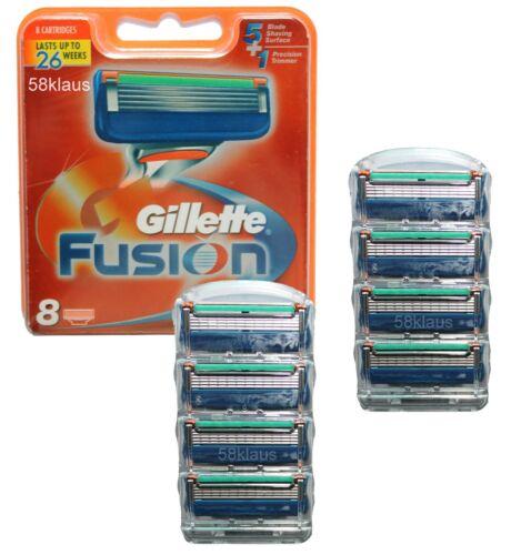 8 razor blades Gillete Gilette Gilete 8 Gillette Fusion Klingen im Blister
