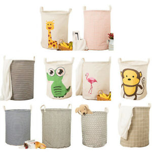 Dirty-Clothes-Storage-Bag-Basket-Laundry-Diamante-Washing-Bin-Foldable-Hamper-Y3