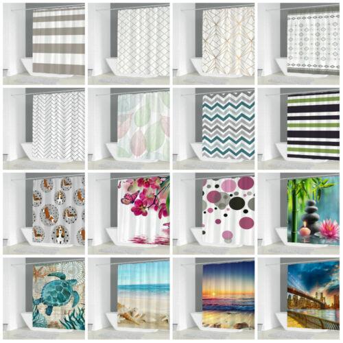 Digitales Drucken Badvorhang Wannenvorhang Vorhang Duschvorhang mit Badematte