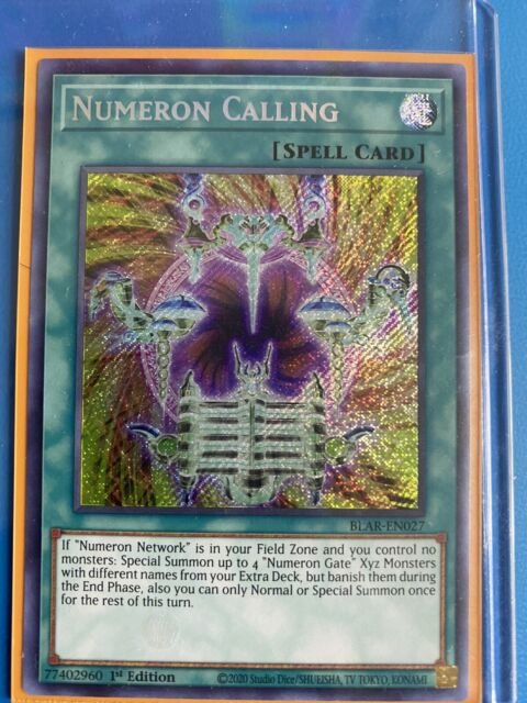 Secret Rare 1st Edition Near Mint Battles BLAR-EN027 Numeron Calling