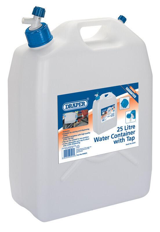 Véritable Draper 25L réservoir d'eau avec robinet 23247