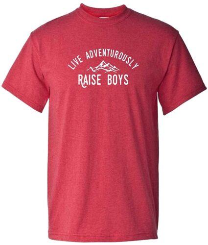 Raise Boys Boy Mom @ Live Adventurously Dad Super Soft T-Shirt