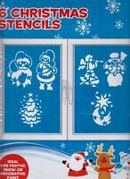 Pack of 6 Christmas Stencils - For Christmas Window Decorations (PM208)