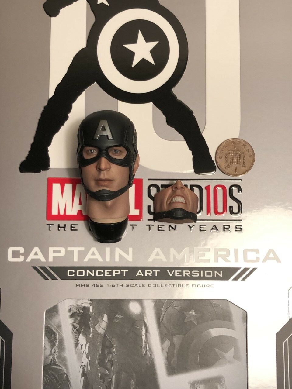 Hot Toys Captain America Concept Art MMS488 Head Head Head Sculpt loose 1 6th scale a35557