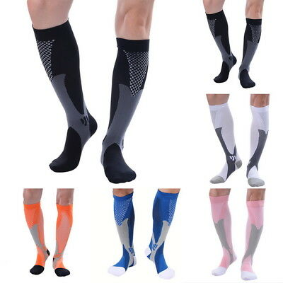 Compression Socks Knie Hoch Stockings Support Kompressionssocken Laufsocken FL