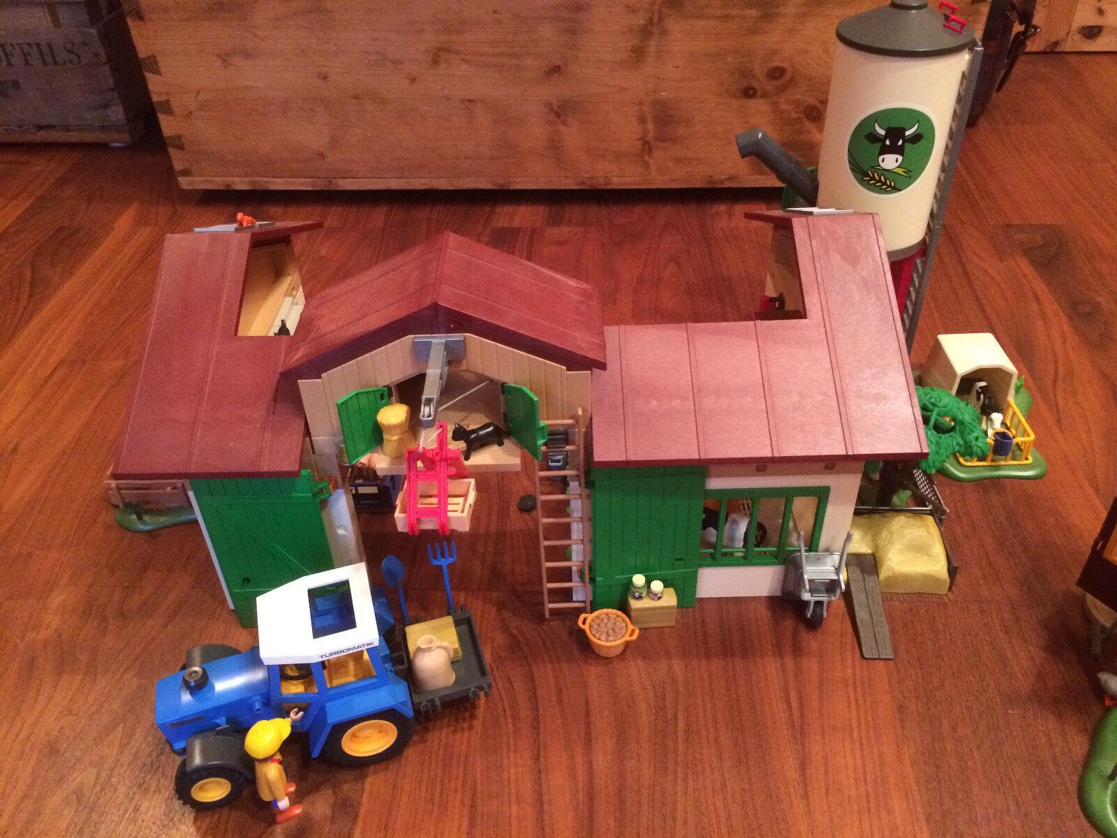 Playmobil Bauernhof Set 5119 + 5122 Fleckschweine + 5124 5124 5124 Kälbchen + Traktor etc. 20b489