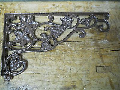 4 Cast Iron Antique Style IVY Brackets Garden Braces Shelf Bracket HD Vine FERN