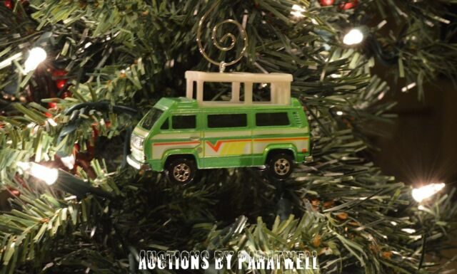 Volkswagen Vanagon T2 Bus Van Custom 1/64 Christmas Ornament VW Camper Kombi TII