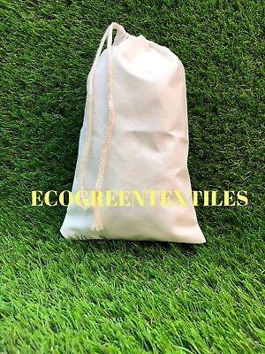 5x7 inch Original  Cotton Muslin Bags *Nice thinner quality*  Choose Quantities