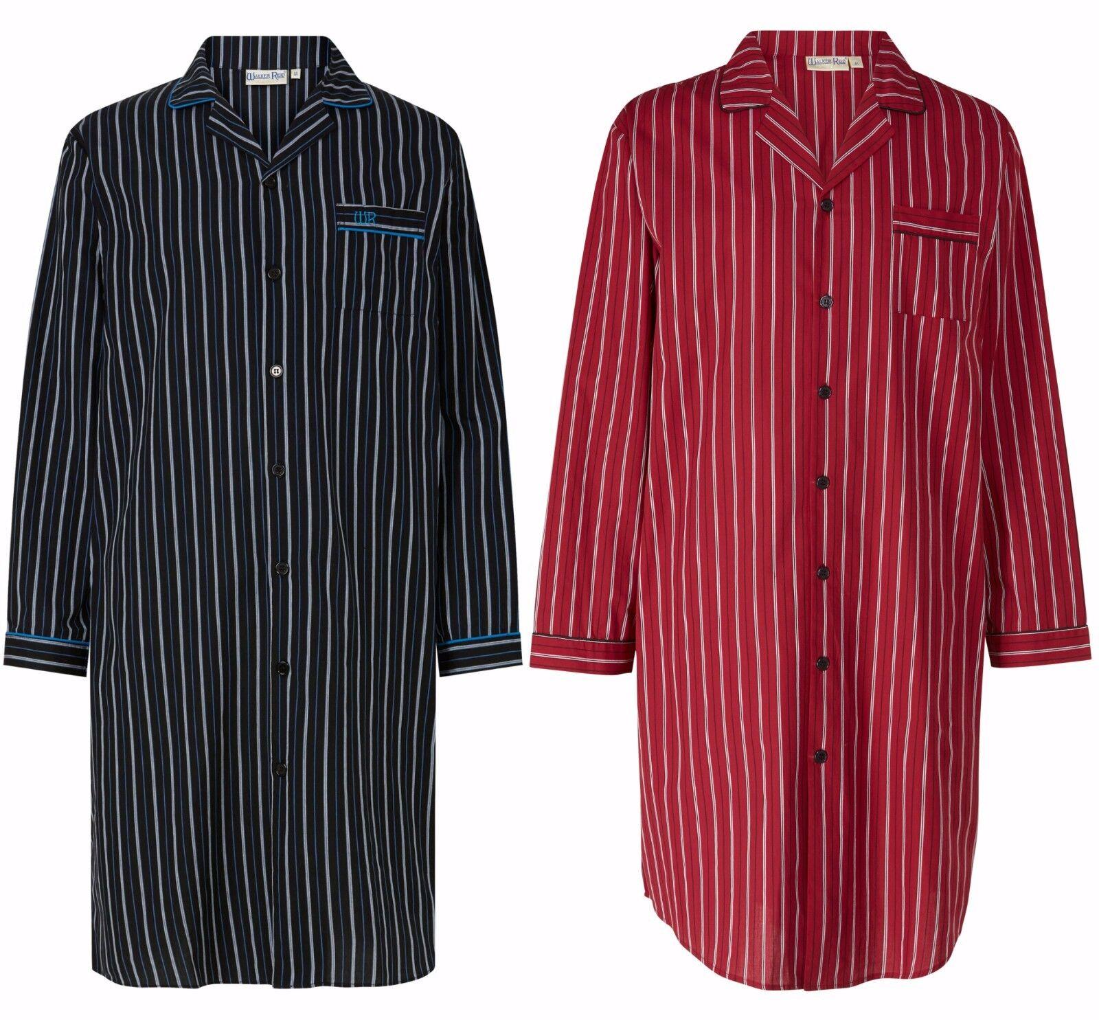 Men's Walker Reid Button Through Nightshirt. 100% Cotton M - 3XL Premium Quality