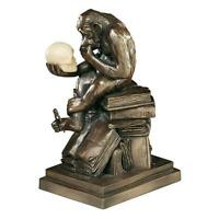 Darwin's thinker Ape Sculpture Highly Detailed Statue In Resin Faux Bronze