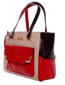 Image Is Loading La Fatima Trio Colors Tote Italian Leather Bag