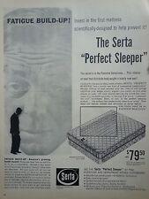 1960 Serta Perfect Sleeper Fatigue Build Up Original Ad