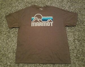 NWOT-MARMOT-Vintage-Style-Graphic-Brown-T-Shirt-Men-039-s-2XL-Outdoor-Exploring-XXL