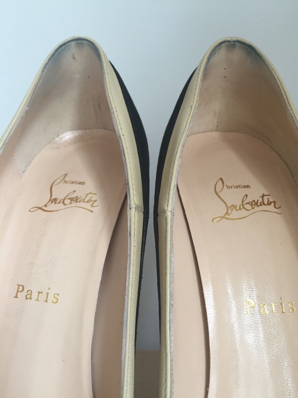 Christian Christian Christian Louboutin  Mago  Suede Nappa Patent Größe 38.5 Gorgeous, Authentic 15be89