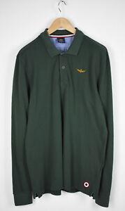 AERONAUTICA-MILITARE-PO705-Men-039-s-L-XL-Polo-Neck-Rugby-Shirt-28236-JS
