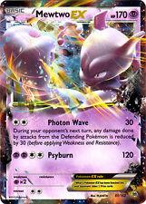x1 Mewtwo-EX - 61/162 - Holo Rare ex Pokemon XY Breakthrough M/NM