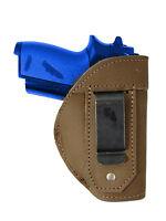 Barsony Olive Drab Leather Iwb Gun Holster For Na Arms Llama Mini 22 25 380