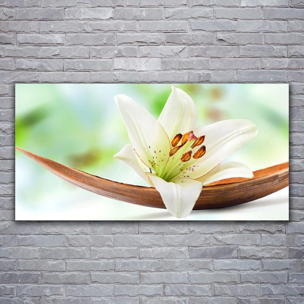 Glasbilder Wandbild Druck auf Glas 120x60 Blaume Pflanzen